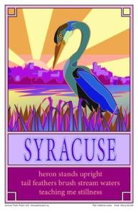 Syracuse Heron Poster